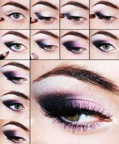 Purple Smokey Eyes Step by Step Tutorial