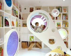 Would love to read in that little nook! Love the circles and squares together!