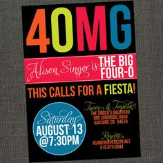 3OMG - 30th  40th or 50th Birthday Party Invitation - Printable or Printed for you. $15.00, via Etsy.
