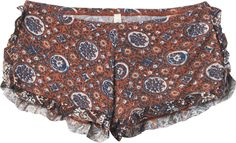 These shorts look like something straight out of That show! Boho Lounge, Lounge Wear, Boho Outfits, Fashion Outfits, Build A Wardrobe, Hippie Boho, Bohemian, Cute Shorts, Up Girl