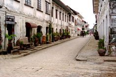 Crisologo Street, Ilocos Sur, Philippines UNESCO World Heritage Centre: Historic Town of Vigan Ilocos, Philippines Culture, Vigan, Native Country, Sight & Sound, Places Ive Been, Explore, Adventure, Street