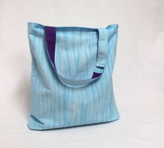 Blue hand dyed tote bag with purple lining by aikothreads  #aikothreads  #tote #totebag #shibori #blue #handdyed #shoppingbag #shopper #bookbag #beachbag