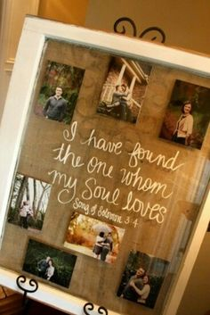 Window for pic frame....such a smart idea lol