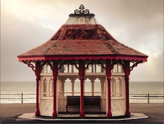 "bexhill-on-sea the second Victorian shelter only left after the modern ones have been made ( the famous ""cow sheds"" along bexhill seafront) Cow Shed, South East England, Seaside Towns, East Sussex, East Coast, Old Photos, Gazebo, Victorian, Outdoor Structures"