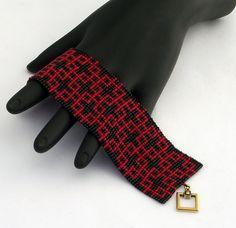 Maglia quadrata perline braccialetto piccoli di NeatBeading