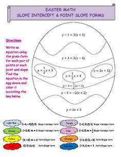 This worksheet contains 8 problems asking the students to write an equation of a line either in slope intercept or point-slope form given either tw...