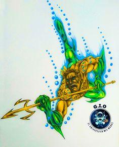 My own handmade version of Aquaman! Aquaman, My Drawings, Superhero, Handmade, Student Discounts, Dios, Artists, Hand Made, Handarbeit