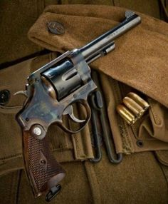 10 of My Favorite Vintage Revolver Photographs Military Weapons, Weapons Guns, Guns And Ammo, Smith And Wesson Revolvers, Smith N Wesson, Rifles, Cool Guns, Le Far West, Firearms