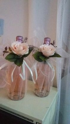Flower Clips, Headbands, Diy And Crafts, Glass Vase, Bottles, Packing, Bows, Decoration, Flowers