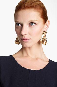 Oscar de la Renta Rose Petal Clip Earrings #NordstromeWeddings