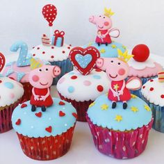 Image result for peppa pig cupcakes