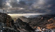 Panoramabild vom Gipfel zur Morgenstunde #iAustria #Tyrol #Zugspitze #mountains