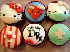 Hello-Kitty-Doctor-Cupcakes