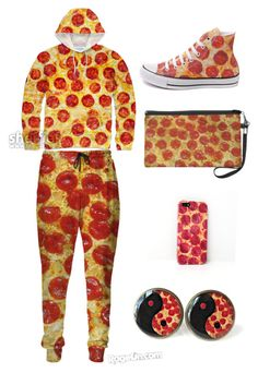 """Pizza"" by shantiboo32 ❤ liked on Polyvore featuring Converse"