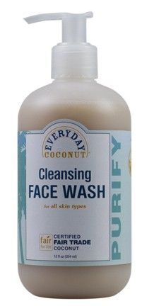 Everyday Coconut Cleansing Face Wash.  EveryDay Coconut, an extension of Alaffia Sustainable Skin Care, is a value line product that provides an easier way for health-conscious families in the West to afford clean, petroleum-free body care, while at the same time keeping the Alaffia cooperative members employed in Togo. (Fair for Life)