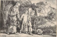 Rembrandt (Dutch, 1606–1669), Christ Returning from the Temple with His Parents, 1654, etching and drypoint, 3.7 x 5.7 inches. Gift of Mr. & Mrs. Jack F. Feddersen, 1991.025.068