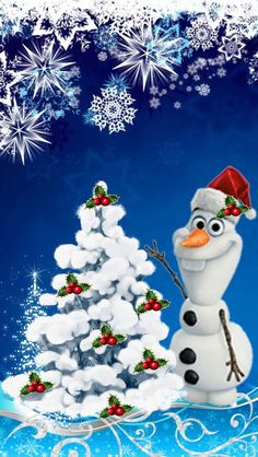 Wallpaper Disney - olaf - Wildas Wallpaper World Disney Merry Christmas, Frozen Christmas, Christmas Pictures, Christmas Art, Disney Holidays, Frozen Wallpaper, Disney Wallpaper, Cartoon Wallpaper, Iphone Wallpaper
