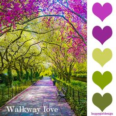 color inspiration - walkway love