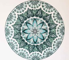 Mandala mural project | Private commission, France on Behance