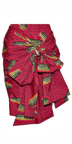 Ankara skirt made from print fabric with a high waist, pencil fit and front sash. It fastens with a zip at the back, is fully lined and is made from African print cotton. African Fashion Skirts, Ghanaian Fashion, African Inspired Fashion, African Print Fashion, Africa Fashion, Skirt Fashion, Nigerian Fashion, Ankara Fashion, Fashion Outfits