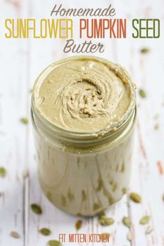 This Sunflower Pumpkin Seed Butter is nut-free, full of healthy fats, and the perfect addition to your pantry of butters. Pumpkin Seed Butter, Sugar Pumpkin, Fruit Butter Recipe, Fit Mitten Kitchen, Walnut Butter, Nutrition For Runners, Nutrition Data, Nutrition Guide, Homemade Sauce