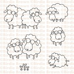 "New digi stamp sets are available for purchase now! ""Baa Baa"" set This set contains 6 images."