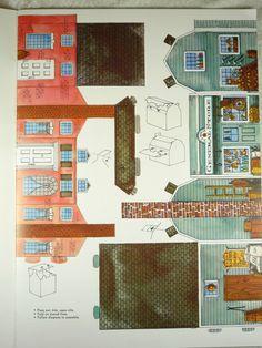 Vintage Whitman Mini Colonial Village Cardboard Press Out Assemble Book Unused | eBay