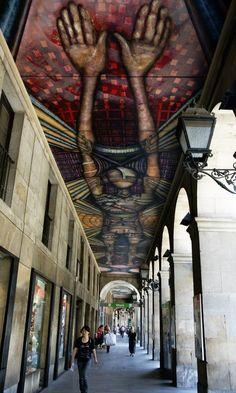 Awesome Street Art in Bilbao, beautiful photo by Wilma de Groot ~~ Houston Foodlovers Book Club