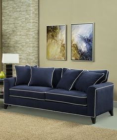Another great find on #zulily! Blue Caribbean Sofa & Pillow Set by Furniture of America #zulilyfinds