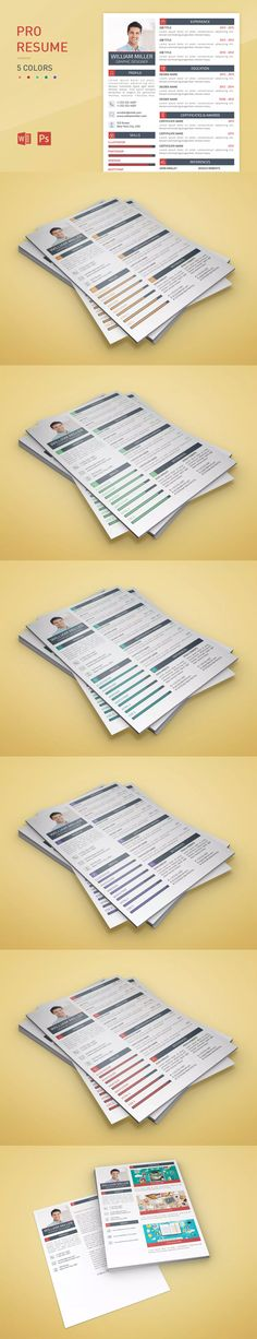 Complete Resume Template With Include Microsoft Word, Photoshop - complete resume