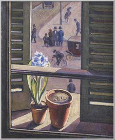 Mario Tozzi 1927. Finestra a Saint Germain-des-Prés. Olio su Tela cm.(64x52) Collezione Privata Roma Archivio n.1804 - Catalogo n.27/19.