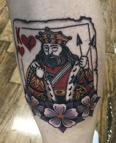King of hearts tattoo. King Of Hearts Tattoo, Roasted Salmon, Healthy Living Tips, Tattoo Designs, Tattoo Ideas, Behance, Time Quotes, Movie Quotes, Tattoos