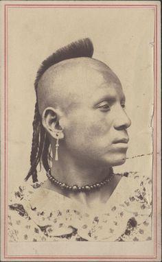 Pawnee man. photo by A.P. Trott between 1860 - 1867