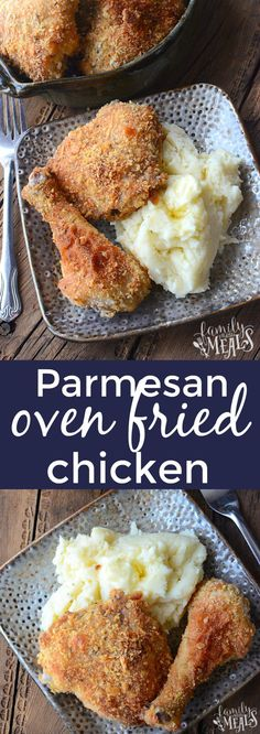 Parmesan Oven Fried Chicken - Family Fresh Meals Parmesan Oven Fried Chicken - Family Fresh Meals This Parmesan Oven Fried Chicken has all. Chicken Drumstick Recipes, Fried Chicken Recipes, Chicken Leg Recipes Oven, Recipe Chicken, Fried Chicken Legs, Oven Chicken, Oven Fried Chicken Thighs, Shake N Bake Chicken, Frango Chicken