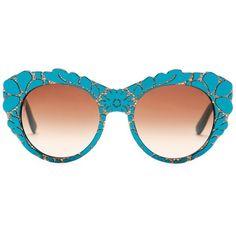 e1a889b34e45 Dolce  amp  Gabbana Women s DNA Oversized Acetate Frame Sunglasses ( 80) ❤  liked on