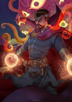 Doctor Strange by Li Hao : Marvel Marvel Comic Universe, Marvel Art, Marvel Dc Comics, Marvel Heroes, Marvel Cinematic Universe, Marvel Avengers, Captain Marvel, Marvel Doctor Strange, Comic Books Art