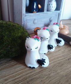 Figurine renard blanc
