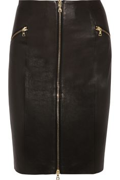 J Brand | Maxine zip-front leather skirt | NET-A-PORTER.COM