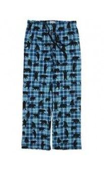 0ddd1ac1b19 Hatley Men s Blue Plaid Bears Lounge Pajama Pants L