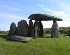 Megalithic era standing stones are all over the British Isles, these are tucked-away in a sheep paddy, Wales