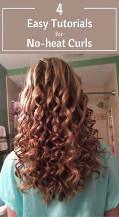 4 Easy Tutorials For No-Heat Curls