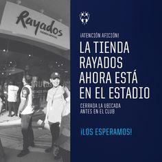 ¡La #TiendaRayados ahora está en el Estadio!