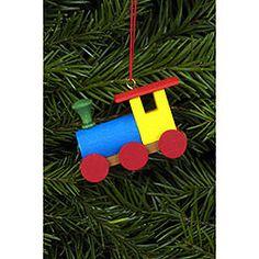 Tree ornament Engine  -  5,2 x 3,8cm / 2 x 2 inch authentic German Christmas decoration