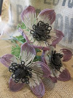 French Beaded Flowers   # Pin++ for Pinterest #
