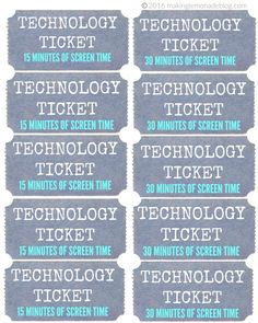How We Reduced Screen Time with NO Tears or Tantrums! (Free Printable Technology Tickets) | Making Lemonade