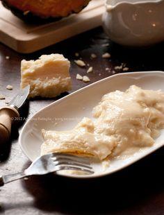 Ravioli di Zucca con Fonduta di Parmigiano