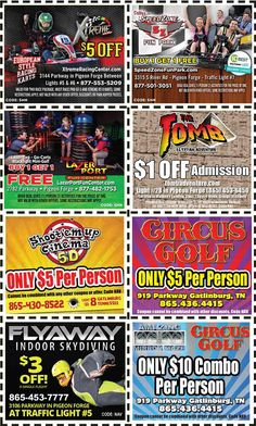 Get discounts on shows, attractions and more in Pigeon Forge and Gatlinburg, TN. Gatlinburg Coupons, Pigeon Forge Tn, All Coupons, Mountain Vacations, Traffic Light, Discount Coupons, Mom And Dad, Mountains, Fun