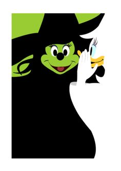 Minnie and Daisy as Elphaba and Galinda from Wicked. Disney and Wicked combined! Disney Magic, Disney Amor, Arte Disney, Disney Girls, Disney Style, Disney Love, Disney Pixar, Disney Nerd, Disney Memes