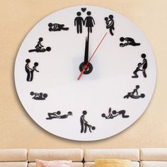 SUNSKY - Sex Position Clock / Novelty Wall Clock Adult Clock