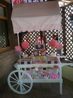 carrito chuches rosa Candy Cart, Pink Candy, Wedding Receptions, Toddler Bed, Birthday, Kitty, Furniture, Parties, Home Decor